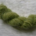 Olive green Samoyed dog - 10 ply