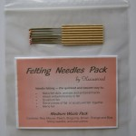 felting needle pack - medium wools